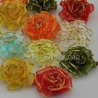 200/40/20 pcs Organza Ribbon Flower carnation Appliques wedding Lots Mix A069