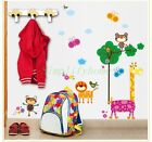 NEW Lion Monkey Giraffe Animal jungle zoo Kids Nursery Removable Wall Stickers