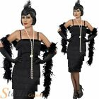 Ladies Black Charleston Flapper Fancy Dress Costume 20s 30s Gatsby Outfit