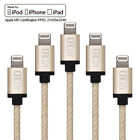 MFI Certified Apple Braid Lightning Data iPhone 5 Charger Cable SE 5 6 7 Plus-2M
