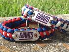 New York Giants Paracord Bracelet w/ NFL Dog Tag and Metal Buckle. AWESOME!!! on eBay