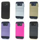 Lot/6 Brushed Finish Hybrid Case for Samsung Galaxy S6 Wholesale
