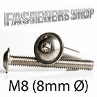 Flanged Button Head Bolts / Screws ISO 7380 A2 Stainless Steel M8 (8mm Ø)