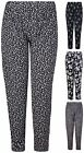 Womens New Plus Size Floral Printed Ladies Elasticated Waist Long Pants Trousers