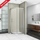 Walk In Quadrant Shower Enclosure Sliding Door Stone Tray 8mm EasyClean Glass