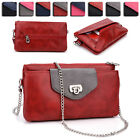 Womens Fashion Smart-Phone Wallet Case Cover & Crossbody Purse EI65-3