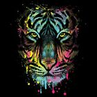 Dripping Tiger  Neon/Black Light   Tshirt    Sizes/Colors