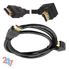 90 Degree Right Angled HDMI Male 19Pin Lead WIRE For HDTV Home Theater Projector