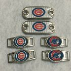 2 ~Chicago Cubs MLB Paracord Charms Oval or Mini Dog Tag shoelace charms
