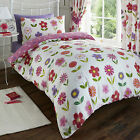 Funky Flowers Polka Dot Kids Teenager Reversible Duvet Quilt Cover Set