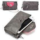 Womens Fashion Smart-Phone Wallet Case Cover & Crossbody Purse EI64-36