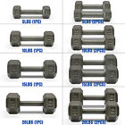 dumbbells 15 lbs - Dumbbell Coated Hex Cast Iron Workout Training Fitness Weight 5 10 15 20 lbs