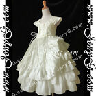 #A6I9 Flower Girl Wedding Bridesmaid Holy Communion Pageant Formal Gowns Dresses