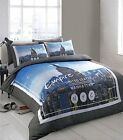 Empire State Reversible Duvet Cover Bedding Set Easy Care Polycotton