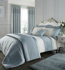 Catherine Lansfield Duck Egg Blue Quilted Luxury Satin Bedding and Accessories