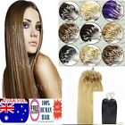 Micro Loop Ring Beads Tipped Remy Human Hair Extensions 18-22Inch AU Stock 100S