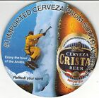Peru Coaster Beer Cristal Enjoy the beer of the Andes