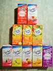 10 PACKETS ONLY CRYSTAL LIGHT ON THE GO DRINK MIX MANY FLAVO