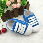 Toddler Girls Boys Lace-up Crib Shoes Newborn Baby Prewalker Soft Sole Sneakers