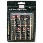 PACK OF 8 ASHLEY FLY CATCHER STICKY PAPER/FLYCATCHER STRIPS-FLIES/BUGS/INSECTS
