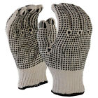 SDI 12 Pairs Natural 7 Gauge Poly Cotton Double Side PVC Dots Work Safety Glove