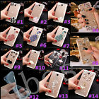 Bling Crystal Gems Diamonds Thin Clear Soft Back Shell Case Cover For Huawei #M