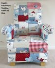 Fryetts Patchwork Fabric Adult Chair Shaker Style Hearts Gingham Shabby Chic New