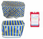 Large Cool Bag & 3 Ice Packs Cooling Cooler Collapsible Picnic Camping BBQ Beach