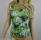 Green Black Lycra Long BOOB TUBE TOP Strapless Party Summer Holiday VEST H207