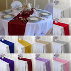 "1/2/4/8/10/12 Pcs Satin Table Runner 12"" x 108"" Wedding Party Supply"