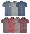 Lee Cooper Mens New Short Sleeve Floral Paisely Cotton Casual Pattern Shirt
