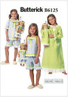 "Butterick 6125 Girls & 18"" Dolls Pyjamas Nightie Nightgown Sewing Pattern B6125"