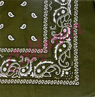 100% Cotton Paisley Bandana Head Wrap Scarf Wristband Handkerchief Double Sided