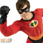 Mr Incredible Mens Fancy Dress Disney's The Incredibles Superhero Costume Outfit