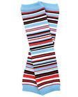 Snowman Stripe Leg Warmers Newborn Infant and Baby Toddler Sizes Boy Blue