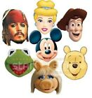 Official DISNEY Party Face Masks MICKEY MOUSE MUPPETS PRINCESS TOY STORY & More
