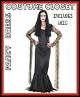 Morticia Addams Family TV Movies Halloween Fancy Dress Costume includes WIG