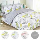 Dreamscene Allium Duvet Cover with Pillowcase Reversible Check Bedding Set Grey