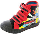 Fireman Sam SEARCHLIGHT Boys Hi Top Navy Canvas Shoes Trainers 5 - 10 FG Width