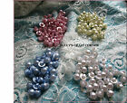 PEARL BUTTONS X 10 - 16mm half round shank - Vintage Romance Delicate Colours