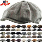 Внешний вид - Men's Cabbie Newsboy and Ascot Plaid Ivy Button Hat Cap