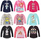 Girls Kids Official Licensed Disney Various Character Long Sleeve T Shirt Top image