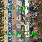 air force cake topper - CAMOUFLAGE CAKE topper Edible image FROSTING SHEET icing paper strips picture