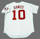 RON SANTO Chicago White Sox 1974 Majestic Cooperstown Home Baseball Jersey