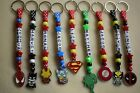 Personalised Keyring bag tag Bagtag Batman Ironman Spiderman Superman Captain A