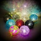 Small Mosaic Glass Orb Night Flickering Candle Effect Lights-9 colours available