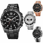 August Steiner AS8113 Men's Swiss Multifunction Day Date Bracelet Watch image