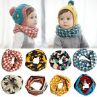 Внешний вид - Kids Baby Girls Boys Snood Scarf Bib Scarves Stars Dots Shawl Neckerchief 1-10T