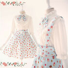 Ladies Cake Print Sweet Princess Cosplay Summer Lolita Dress Costume Skirt