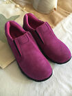 Gir's Merrell Novica Moc Suede Berry Loafers Shoes NIB